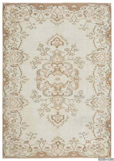"""Turkish Vintage Area Rug - 6'2"""" x 8'10"""" (74 in. x 106 in.)"""