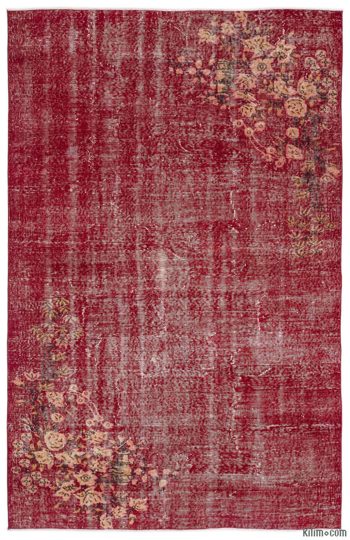 K0011872 Red Turkish Vintage Area Rug