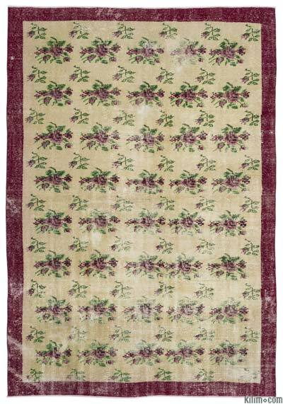 "Turkish Vintage Area Rug - 6'8"" x 9'7"" (80 in. x 115 in.)"