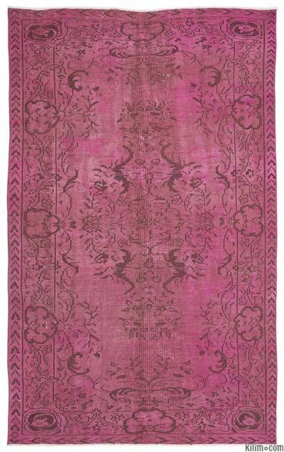 Boyalı El Dokuma Vintage Halı - 177 cm x 280 cm