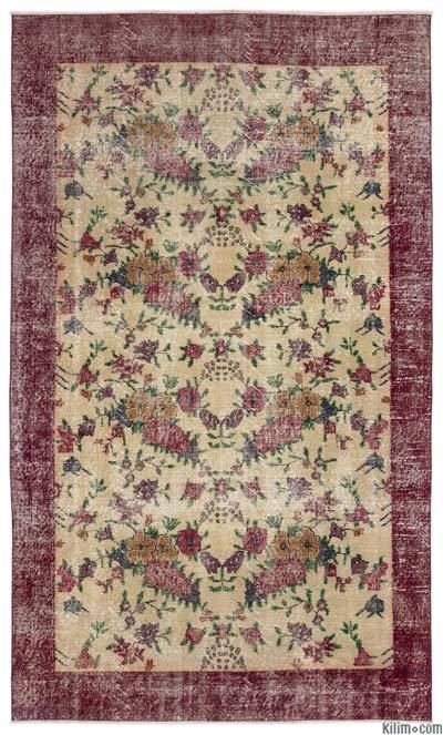 "Turkish Vintage Area Rug - 5' x 8'6"" (60 in. x 102 in.)"