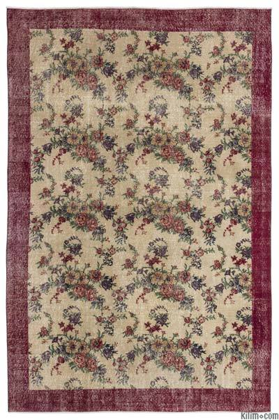 "Turkish Vintage Area Rug - 6' x 9'3"" (72 in. x 111 in.)"