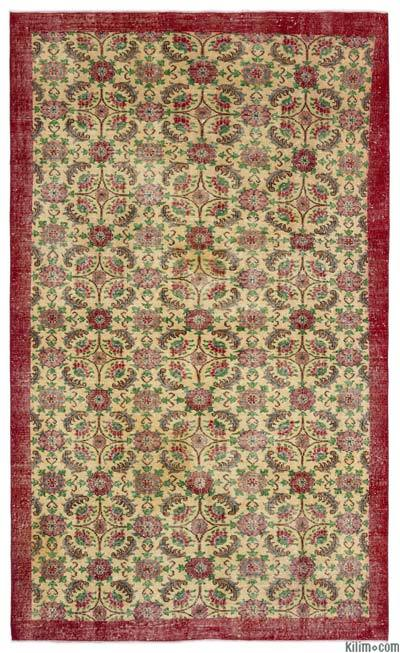 """Turkish Vintage Area Rug - 5'9"""" x 9'7"""" (69 in. x 115 in.)"""