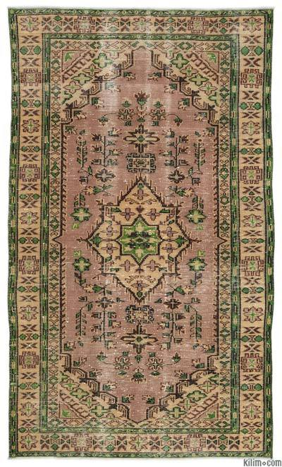 "Turkish Vintage Area Rug - 5'1"" x 8'7"" (61 in. x 103 in.)"