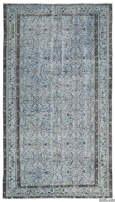 """Over-dyed Turkish Vintage Rug - 4'11"""" x 8'10"""" (59 in. x 106 in.)"""