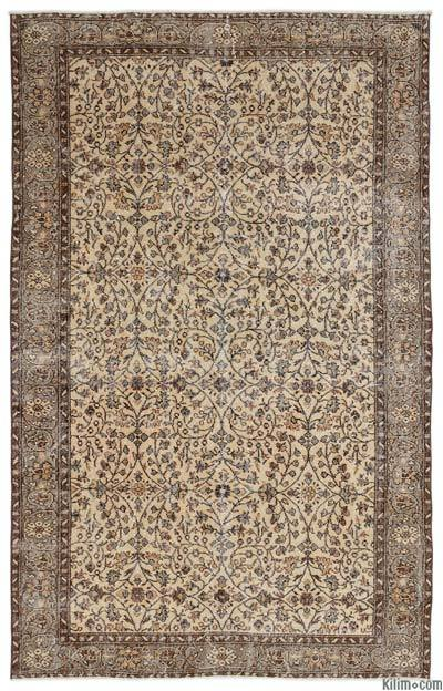 """Turkish Vintage Area Rug - 6'2"""" x 9'6"""" (74 in. x 114 in.)"""