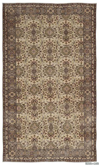 """Turkish Vintage Area Rug - 5'6"""" x 9'2"""" (66 in. x 110 in.)"""