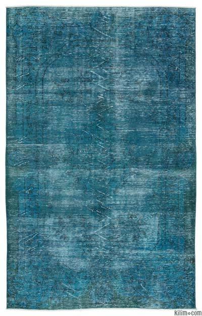Alfombra Turca Vintage Sobre-teñida - 185 cm x 300 cm