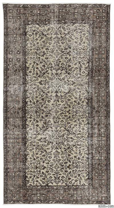 """Turkish Vintage Area Rug - 4'6"""" x 8'6"""" (54 in. x 102 in.)"""