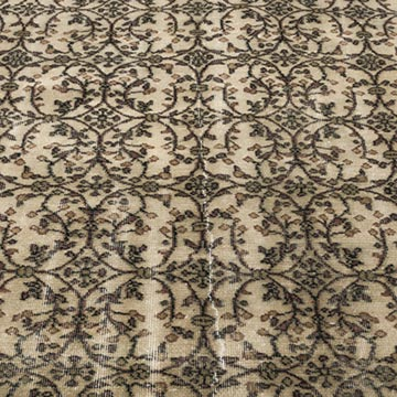 """Vintage Turkish Hand-Knotted Rug - 6' 2"""" x 9' 2"""" (74 in. x 110 in.) - K0012032"""