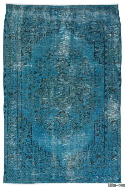 """Over-dyed Turkish Vintage Rug - 4' 10"""" x 7' 7"""" (58 in. x 91 in.)"""