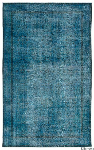 """Over-dyed Turkish Vintage Rug - 5'10"""" x 9'4"""" (70 in. x 112 in.)"""