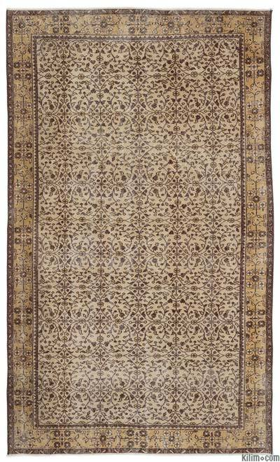 """Turkish Vintage Area Rug - 5'5"""" x 9'1"""" (65 in. x 109 in.)"""