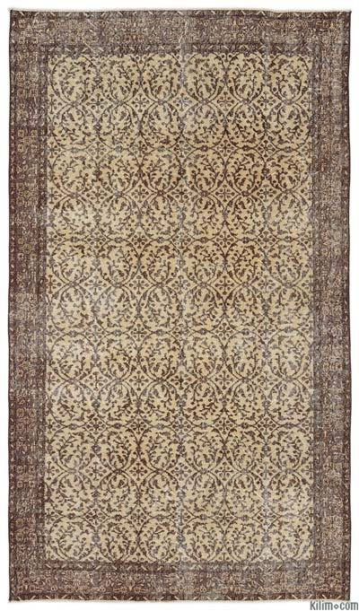 """Turkish Vintage Area Rug - 5'3"""" x 9'3"""" (63 in. x 111 in.)"""