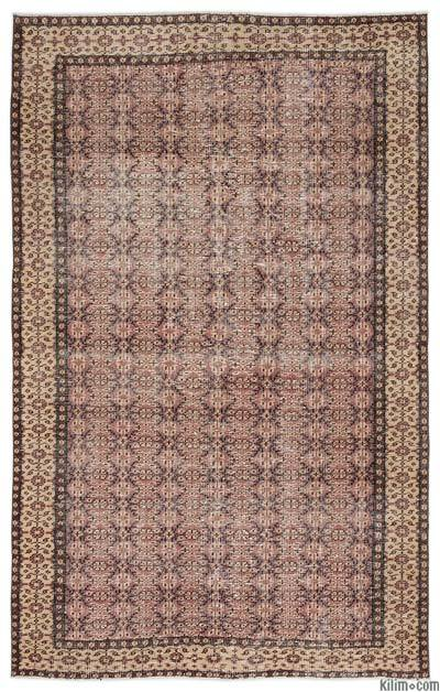 """Turkish Vintage Area Rug - 5' 2"""" x 8' 3"""" (62 in. x 99 in.)"""