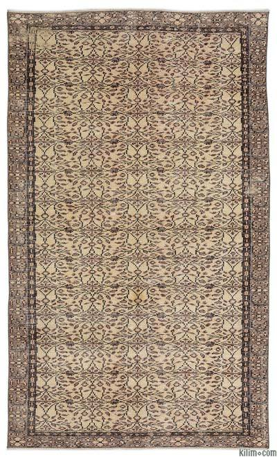"""Turkish Vintage Area Rug - 5'2"""" x 8'9"""" (62 in. x 105 in.)"""