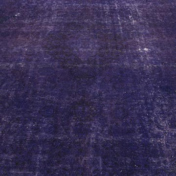 """Purple Over-dyed Vintage Hand-Knotted Oriental Rug - 9' 8"""" x 12' 10"""" (116 in. x 154 in.) - K0012159"""