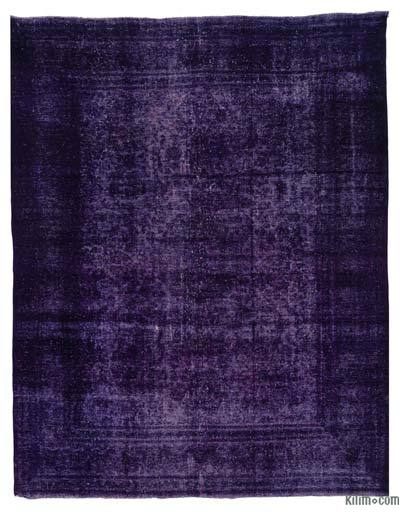 """Over-dyed Vintage Hand-knotted Oriental Rug - 9' 8"""" x 12' 6"""" (116 in. x 150 in.)"""