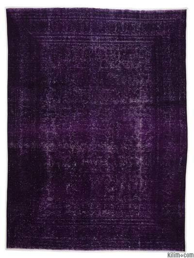 """Over-dyed Vintage Hand-knotted Oriental Rug - 9' x 12'6"""" (108 in. x 150 in.)"""