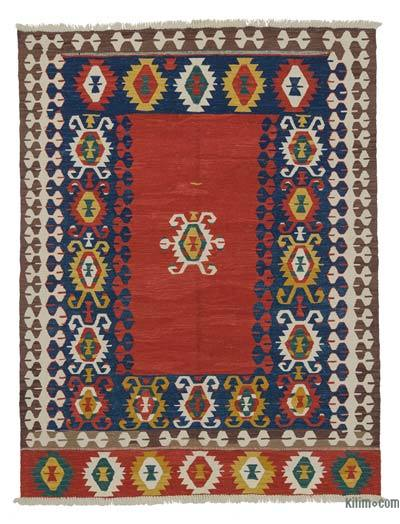 "New Handwoven Turkish Kilim Rug - 5' 2"" x 6' 9"" (62 in. x 81 in.)"