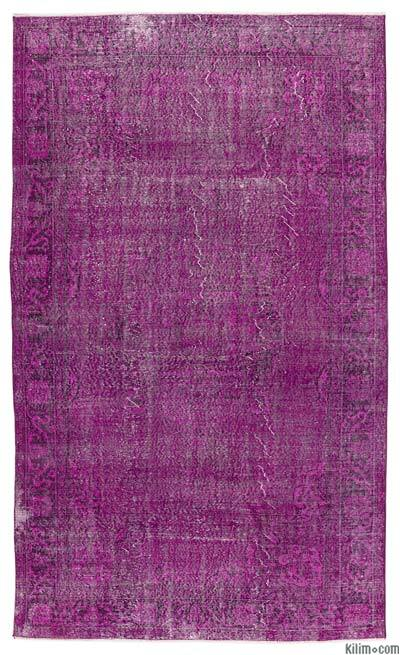 """Over-dyed Turkish Vintage Rug - 6'3"""" x 10'6"""" (75 in. x 126 in.)"""