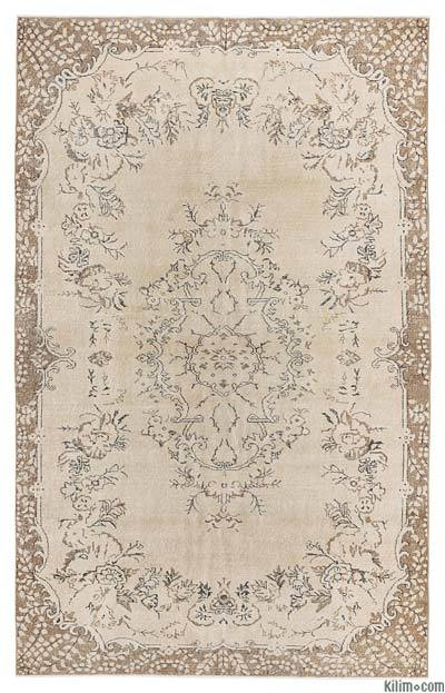 """Turkish Vintage Area Rug - 6'3"""" x 10' (75 in. x 120 in.)"""