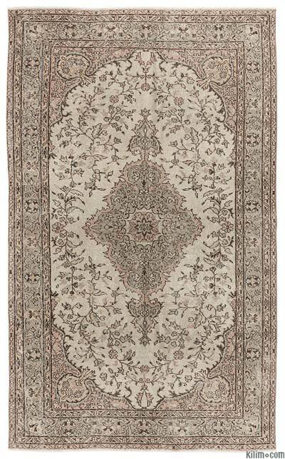 """Turkish Vintage Area Rug - 5'4"""" x 8'11"""" (64 in. x 107 in.)"""
