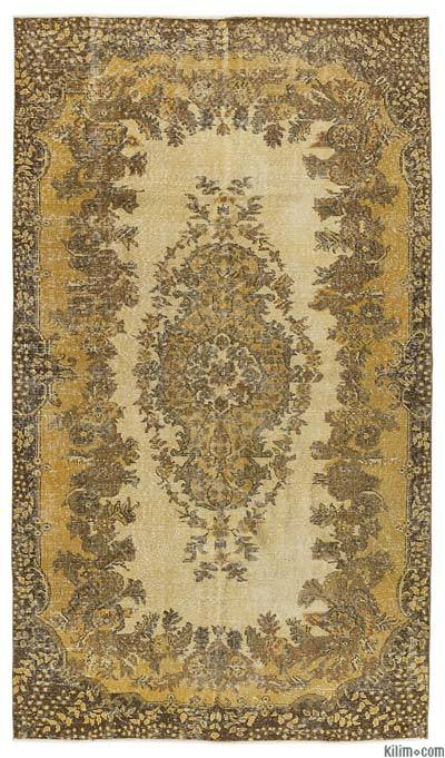 "Over-dyed Turkish Vintage Rug - 5'3"" x 9'5"" (63 in. x 113 in.)"