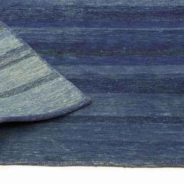 """Blue New Turkish Pile Rug - 4'  x 5' 11"""" (48 in. x 71 in.) - K0012308"""