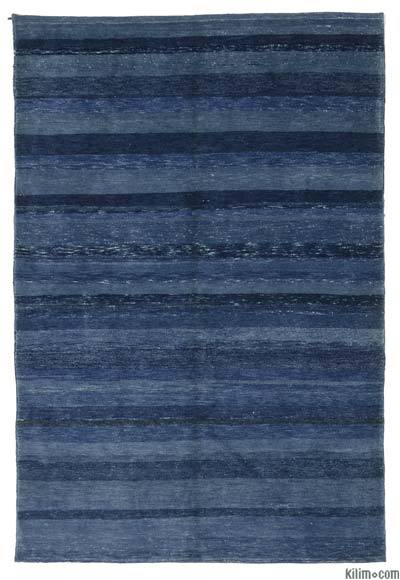 "Blue New Turkish Pile Rug - 4'  x 5' 11"" (48 in. x 71 in.)"