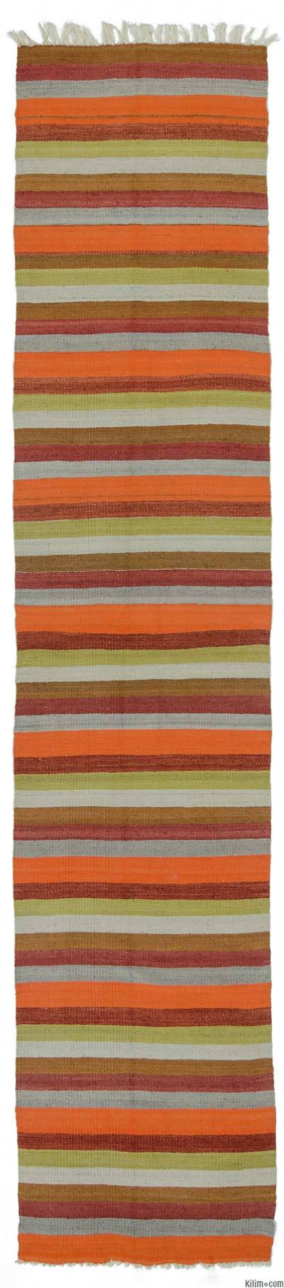 "Vintage Turkish Kilim Runner - 2' 2"" x 10' 10"" (26 in. x 130 in.)"