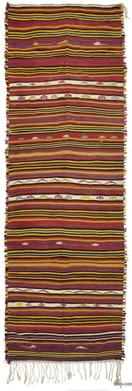 Kilim Vintage Turco De Pasillo - 145 cm x 453 cm