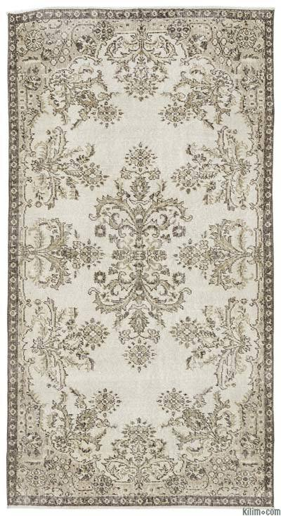 """Turkish Vintage Area Rug - 3'9"""" x 7' (45 in. x 84 in.)"""