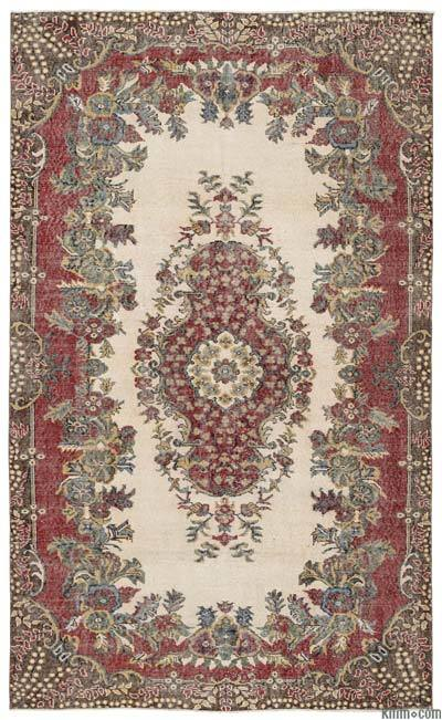 "Turkish Vintage Area Rug - 5'10"" x 9'6"" (70 in. x 114 in.)"