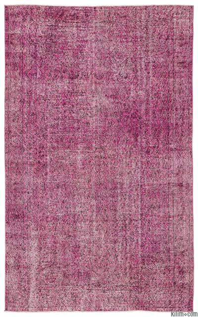 Boyalı El Dokuma Vintage Halı - 199 cm x 317 cm