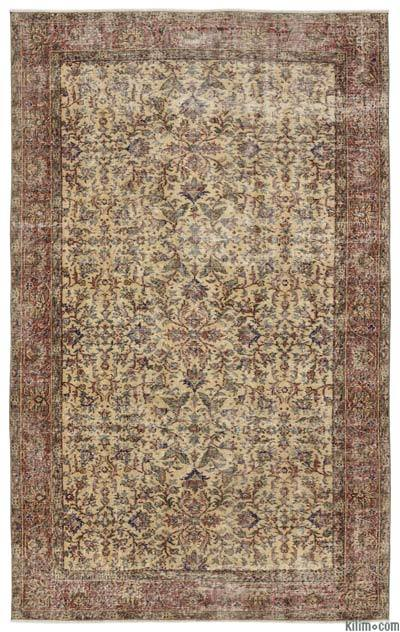 "Turkish Vintage Area Rug - 5'4"" x 8'10"" (64 in. x 106 in.)"