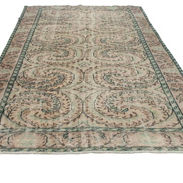 """Vintage Turkish Hand-Knotted Rug - 6'  x 8' 9"""" (72 in. x 105 in.) - K0012766"""