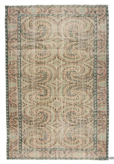 "Turkish Vintage Area Rug - 6'  x 8' 9"" (72 in. x 105 in.)"