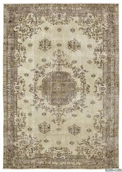 "Turkish Vintage Area Rug - 6'2"" x 8'10"" (74 in. x 106 in.)"