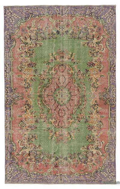 "Turkish Vintage Area Rug - 5' 5"" x 8' 9"" (65 in. x 105 in.)"