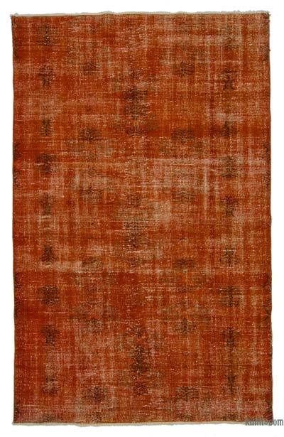 "Over-dyed Turkish Vintage Rug - 5' 1"" x 8'  (61 in. x 96 in.)"