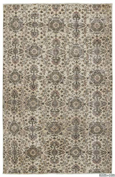 """Turkish Vintage Area Rug - 4'11"""" x 7'8"""" (59 in. x 92 in.)"""