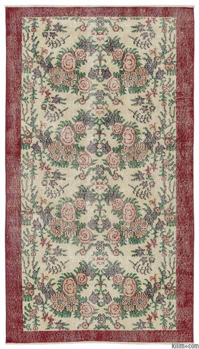 """Turkish Vintage Area Rug - 3'9"""" x 6'9"""" (45 in. x 81 in.)"""