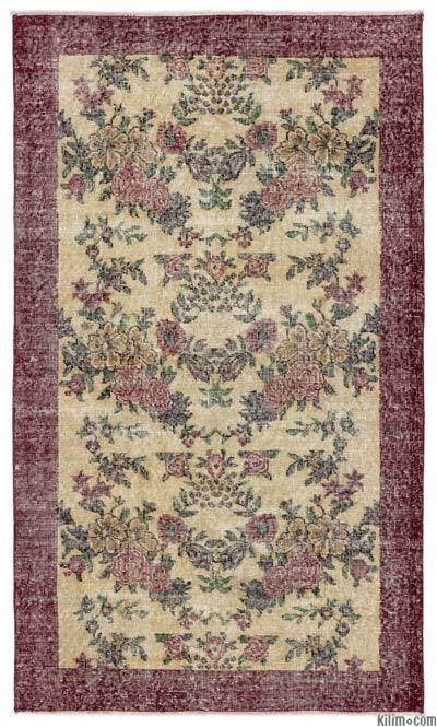 """Turkish Vintage Area Rug - 3'10"""" x 6'6"""" (46 in. x 78 in.)"""