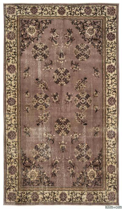 """Turkish Vintage Area Rug - 5'2"""" x 8'8"""" (62 in. x 104 in.)"""