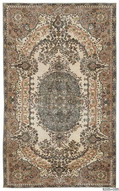 "Turkish Vintage Area Rug - 5'5"" x 8'10"" (65 in. x 106 in.)"