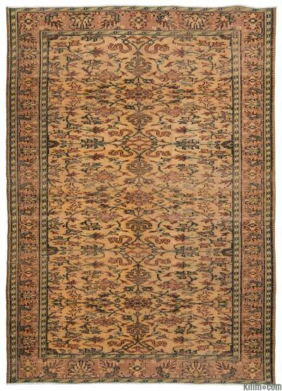 """Turkish Vintage Area Rug - 6'2"""" x 8'8"""" (74 in. x 104 in.)"""