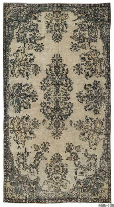 """Turkish Vintage Area Rug - 5'5"""" x 9'11"""" (65 in. x 119 in.)"""