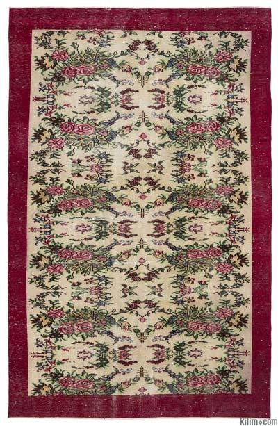 """Turkish Vintage Area Rug - 6'2"""" x 9'7"""" (74 in. x 115 in.)"""