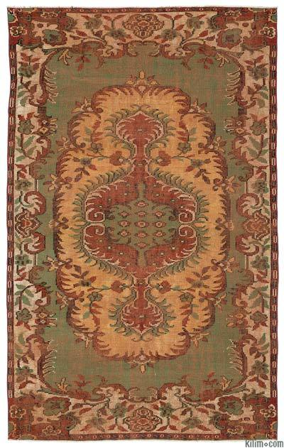 """Turkish Vintage Area Rug - 5'8"""" x 9'3"""" (68 in. x 111 in.)"""